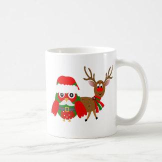 Santa Owl and Coffee Mug
