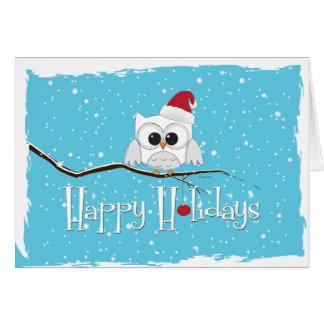 Santa Owl Card