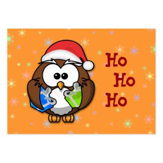 Santa owl large business card