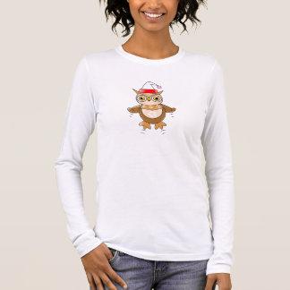 Santa Owl Long Sleeve T-Shirt