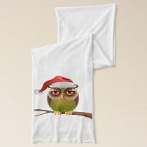 Santa Owl Scarf
