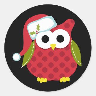 Santa Owl Sticker