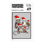 Santa Owls Postage
