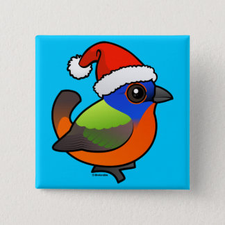 Santa Painted Bunting Button