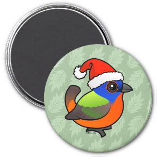 Santa Painted Bunting Magnet