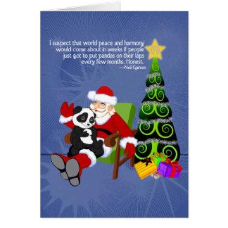 Santa Panda Greeting Card