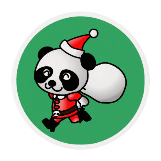 Santa Panda Edible Frosting Rounds