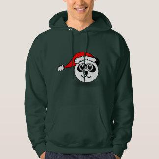Santa Panda Holiday Hoodie Dark Green