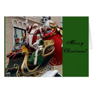 Santa Parade Christmas Card