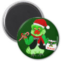 Santa Parrot Magnet