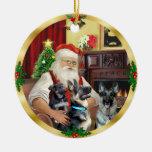 Santa/pastor alemán y perrito adorno