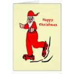 Santa patinador tarjeton