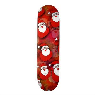 Santa Pattern Skateboard Deck