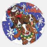 Santa Paws 2008 Classic Round Sticker