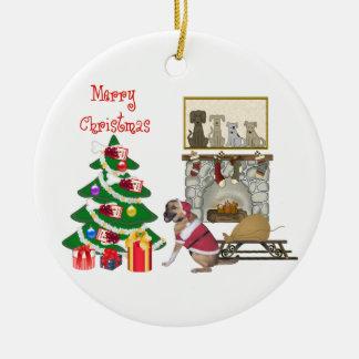 Santa Paws Ceramic Ornament