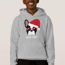 Santa Paws Christmas French Bulldog Hoodie