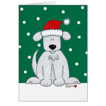 Santa Paws Dog Puppy Merry Christmas Greeting Card