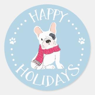 Santa Paws - Dog-Themed Happy Holidays Classic Round Sticker