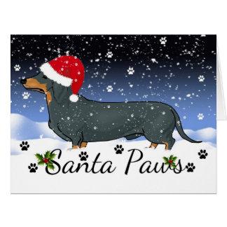 Santa Paws Giant Christmas Card Dachshund