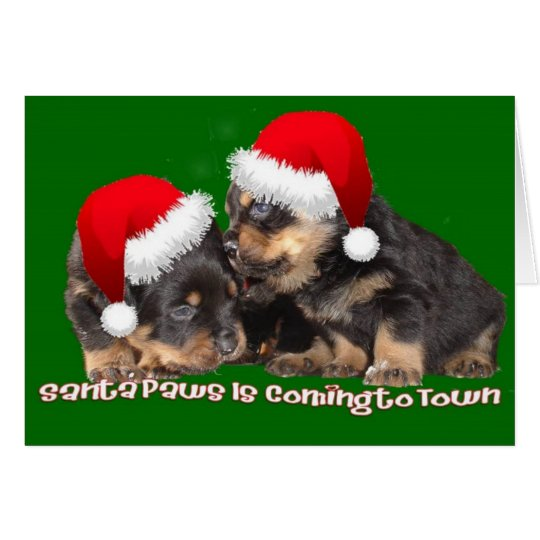 Santa Paws Is Coming to Town Card