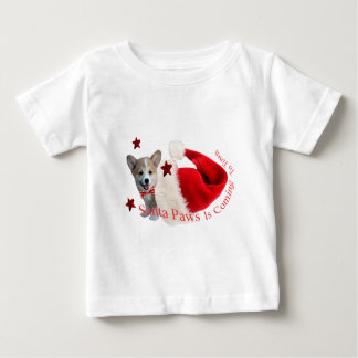 SANTA PAWS IS COMING TO TOWN T SHIRTS