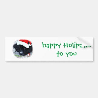 Santa Paw's Newfoundland Holiday gifts Bumper Stickers