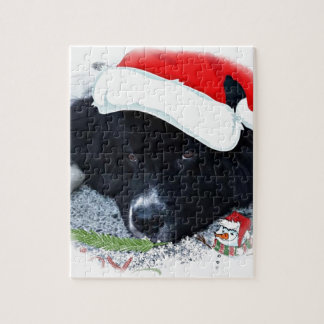 Santa Paw's Newfoundland Holiday gifts Jigsaw Puzzle
