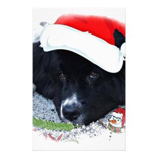 Santa Paw's Newfoundland Holiday gifts Stationery
