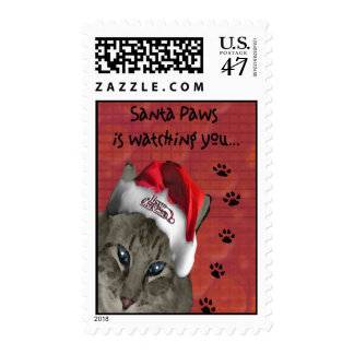 Santa Paws Postage Stamp