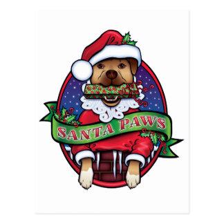 Santa Paws Postcard