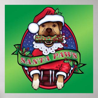 Santa Paws Print