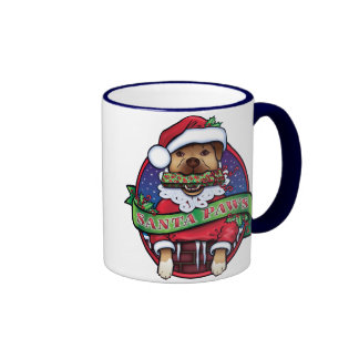 Santa Paws Ringer Coffee Mug
