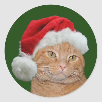 Santa Paws Classic Round Sticker