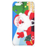 Santa Peace Sign Xmas Case For iPhone 5C