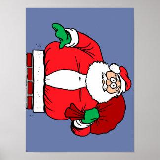 Santa pegado (personalizar él!) poster