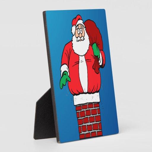 Santa pegado (personalizar él!) placas con fotos