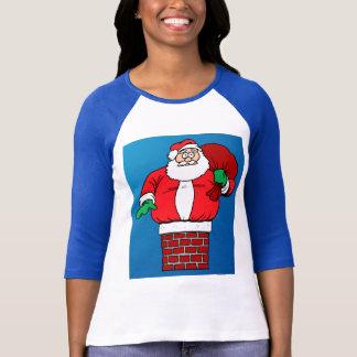 Santa pegado (personalizar él!) camiseta