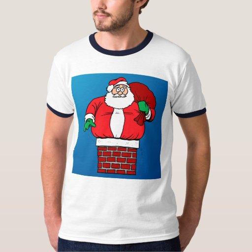 Santa pegado (personalizar él!) poleras