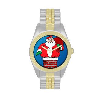 Santa pegado (personalizar él!) relojes de mano