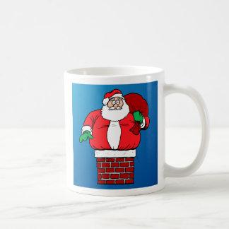 Santa pegado (personalizar él!) taza de café