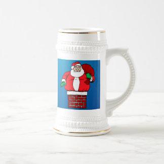 Santa pegado (personalizar él!) tazas