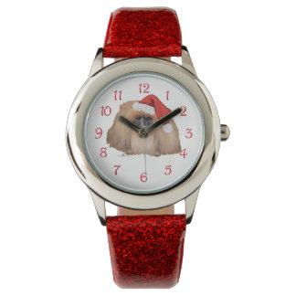 Santa Pekingese Relojes De Mano