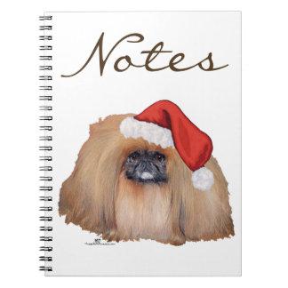 Santa Pekingese Spiral Notebook