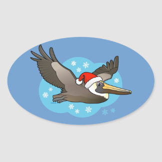 Santa Peli Oval Sticker