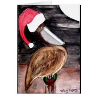 Santa Pelican Christmas Card