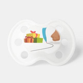 Santa Pen Tweet. Baby Pacifiers