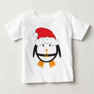 Santa Penguin Baby T-Shirt