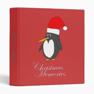 Santa Penguin Binder Photo Album Template