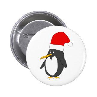 Santa Penguin Button