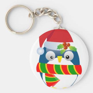 Santa Penguin Keychain